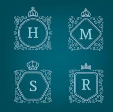 復古字母商業徽標