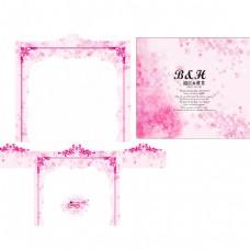 粉色樱花婚礼素材图片