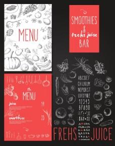 餐厅水果菜单设计矢量素材