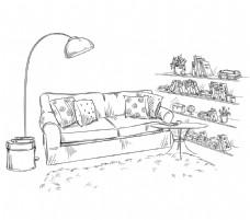 灯具家具矢量装饰素材
