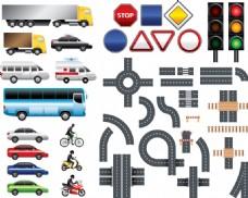 矢量交通玩具铁轨