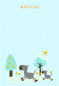 奔跑的斑马动物海报背景素材