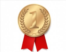 金色logo奖章