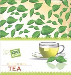 茶叶挂耳玻璃杯矢量素材