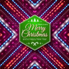 绚丽圣诞背景矢量素材