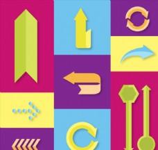 9款扁平化箭头设计矢量素材