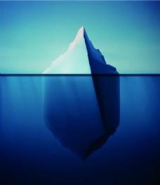 蓝色气候变暖冰山融化矢量素材