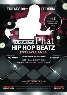 phatbeatz国外创意欧美风酒吧宣传海报宣传单页
