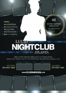 lucid黑色国外创意欧美风酒吧宣传海报宣传单页