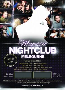 majestic国外创意欧美风酒吧宣传海报宣传单页