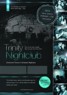 trinity-nightclub国外创意欧美风酒吧宣传海报宣传单页