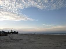 沙滩 朝霞