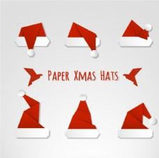 手绘圣诞节帽子