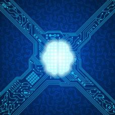 蓝色高科技科幻抽象
