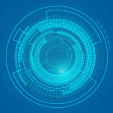 蓝色高科技科幻抽象几何矢量设计
