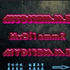 霓虹发光字体