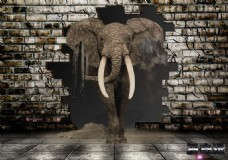 大象炫酷背景墙