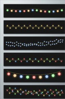 霓虹灯线矢量素材