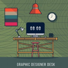 手繪設計師辦公桌