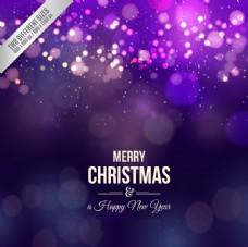 紫色圣诞灯光背景