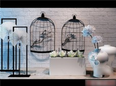 鸟笼花瓶模型素材