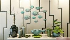 鱼墙饰花瓶模型素材