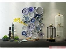 花瓶装饰盘子鸟笼