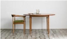 纯木桌椅组合场景