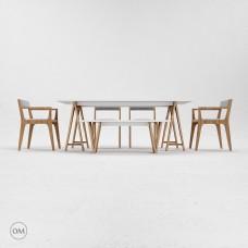 现代圆形餐桌3d模型