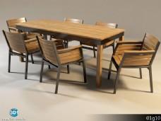 长方形餐桌模型