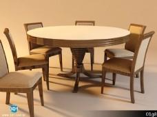 圆形餐桌模型下载