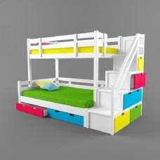 多彩上下床3d模型
