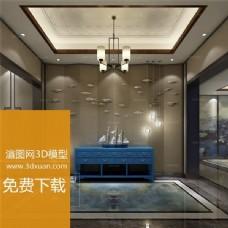 中式风格精装模型