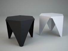 黑白凳子模型