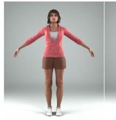 人物模特动作模型