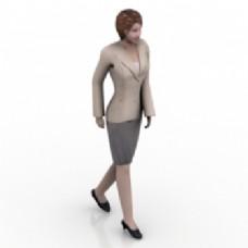 女性白领的三维模型