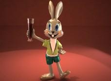 卡通动物兔子模型