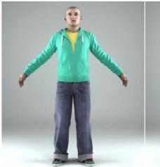 男模特动作模型