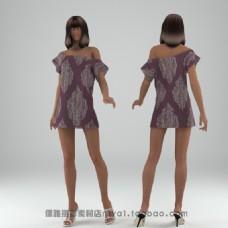露肩美女模特模型