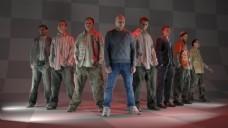 男人群体模型