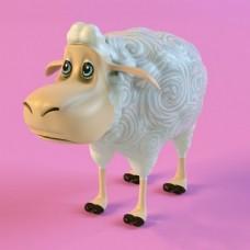 卡通羊模型