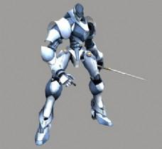 3d游戏角色:attackive robot