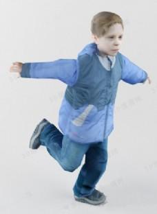 跳跃的孩子模型