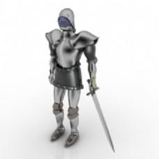 欧洲骑士3d模型