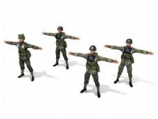 3ds max模型:二战美国陆军士兵玩具士兵的故事