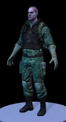 电脑游戏人物3d模型:特种部队战士