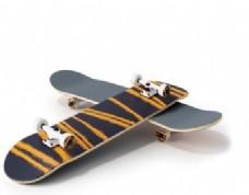 时尚花纹滑板车模型素材