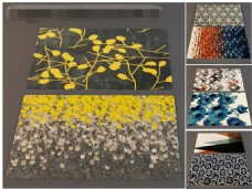 银杏叶花草植物花纹地毯