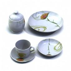 整套茶杯餐碟盘子3d模型