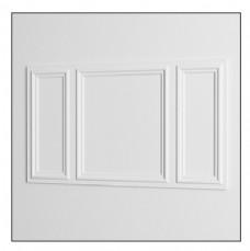 简约白色边框方形墙壁花纹3d模型